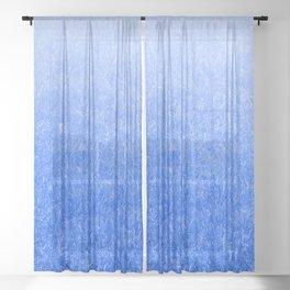 Light-to-Dark Blue Ombre Gradient Grass Sheer Curtain
