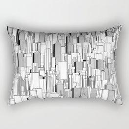 Tall city B&W / Lineart city pattern Rectangular Pillow