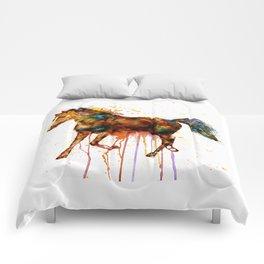 Watercolor Horse Comforters