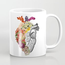 Flower Heart Spring White Coffee Mug