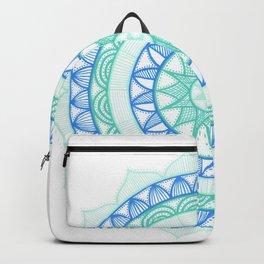 Shades of Blue Mandala Backpack