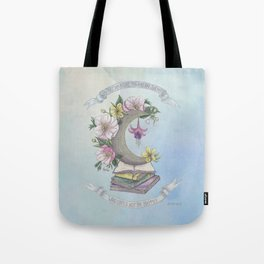 Freedom, Books, Flowers and The Moon Tote Bag