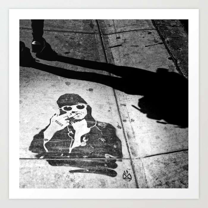 Stencil man in Deep Ellum Art Print