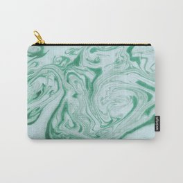 Marble Acrylic Jade Green Carry-All Pouch