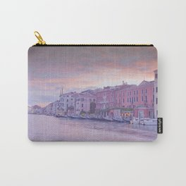 Venice in pastel, pink soft fluffy clouds over Venice, Italy Carry-All Pouch