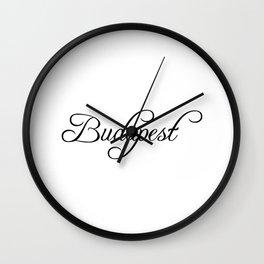 Budapest Wall Clock