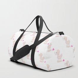 Pink Poodle Poop Duffle Bag