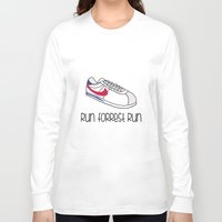 forrest gump Long Sleeve T-shirts featuring Run Forrest Run by andresbruno