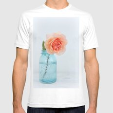 Rose in a Jar MEDIUM White Mens Fitted Tee