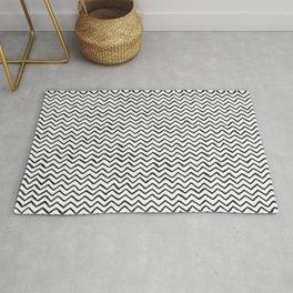 Black & White Hand Drawn ZigZag Pattern Rug