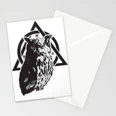 Owl & symbols Stationery Cards