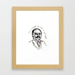 HG Wells Framed Art Print