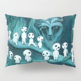 Kodama and the Forest Spirit Pillow Sham