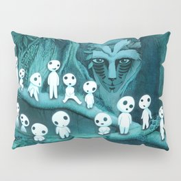 Kodama and the Forest Spirit Pillow Sham