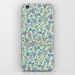 Live Lovely, Print iPhone Skin