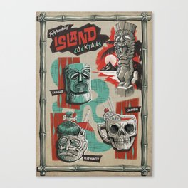 REFRESHING ISLAND COCKTAILS  Canvas Print