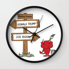 Polling Station Misdirection Wall Clock