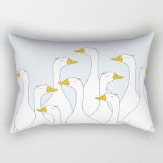 the duck Rectangular Pillow