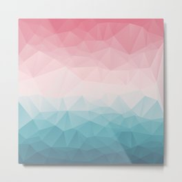 The Colorful Low Poly I Metal Print