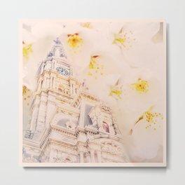 Philly & A Cherry Blossom Metal Print