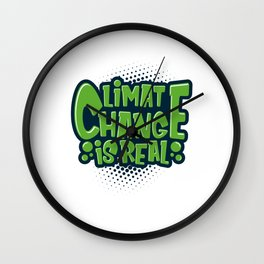 Environmental Protection Climate Change Wall Clock