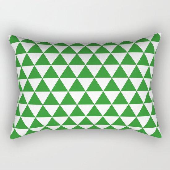 Triangles (Forest Green/White) Rectangular Pillow