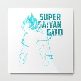 Super Saiyan God Metal Print