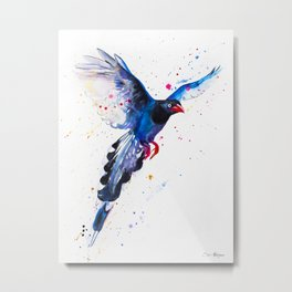Taiwan Blue Magpie Metal Print