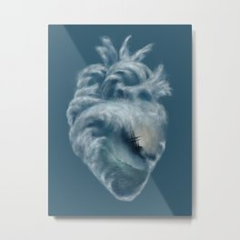 Into the Heart of the Ocean Metal Print