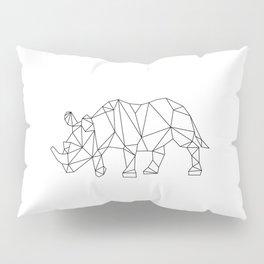 Geometric Rhino Design Pillow Sham