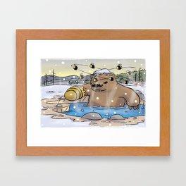 Disgruntled Bear Framed Art Print
