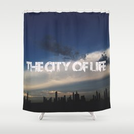 The city of life // #DubaiSeries Shower Curtain