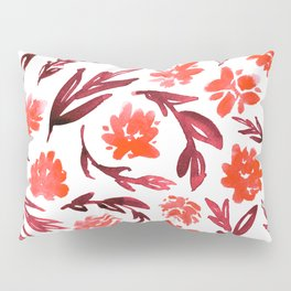 Red garden Pillow Sham