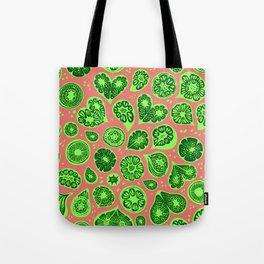 Frutti Green Pink Tote Bag