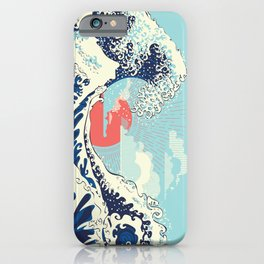 The Great Wave off Kanagawa stormy ocean with big waves iPhone Case