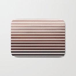 Watercolor Gouache Mid Century Modern Minimalist Colorful Raw Umber Stripes Bath Mat