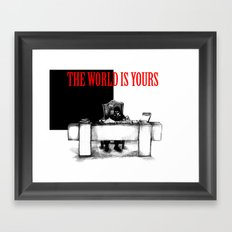 The World Is Yours Sketch Framed Art Print