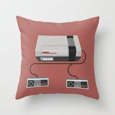 Retro Gaming - NES Throw Pillow
