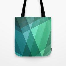 Fig. 046 Mint, Sea Green, Blue & Teal Geometric Tote Bag
