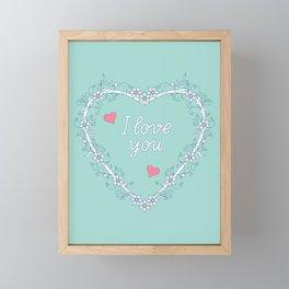 floral heart Framed Mini Art Print