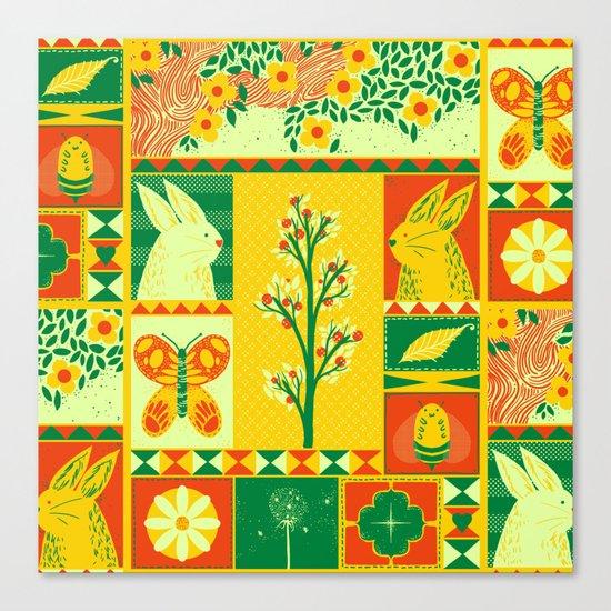 Spring Square Canvas Print