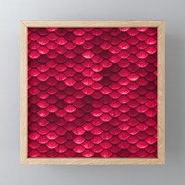 Ruby Red Mermaid Tail Scales Framed Mini Art Print