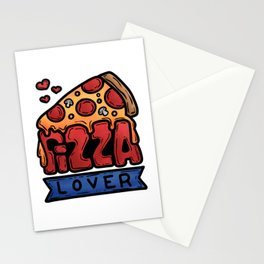 Pizza Love Italy Kitchen salami cheese gift Stationery Cards