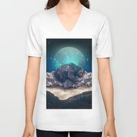 jazzberry V-neck T-shirts featuring Under the Stars (Ursa Major) by soaring anchor designs