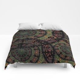 Mandala in Autumn Colors Comforters