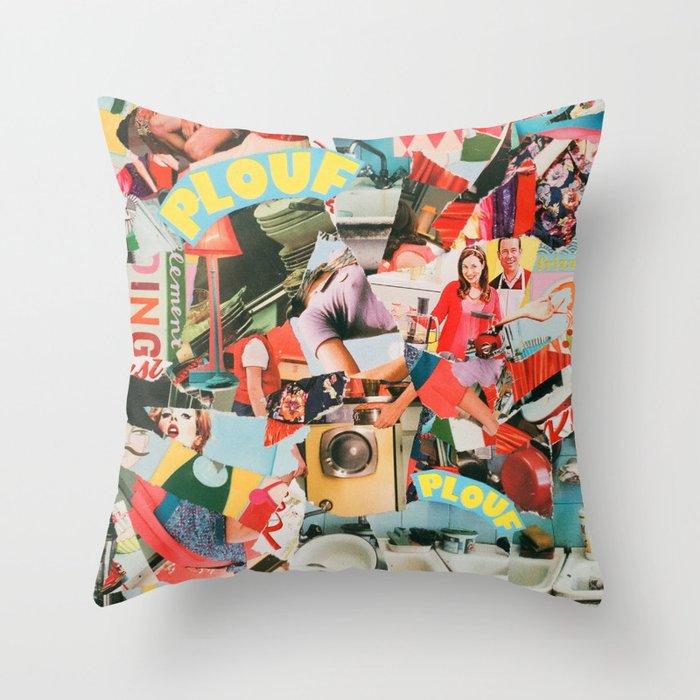 Plouf Plouf Throw Pillow