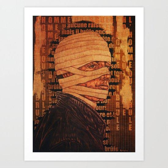 The Burn Man still in love Art Print