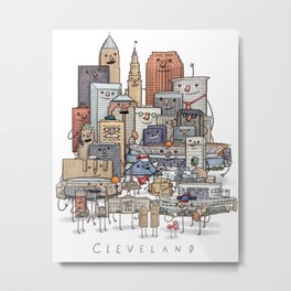 Cleveland Skyline group portrait Metal Print