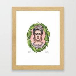 Frida in Pothos Framed Art Print