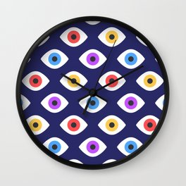 Lucky Eyes Vintage Pattern Wall Clock